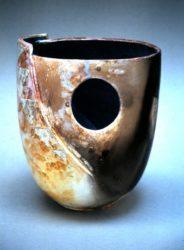 John bedding tall fumed bowl originally shown at the Tate gallery St Ives