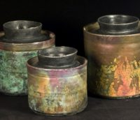 Collection of lidded jars