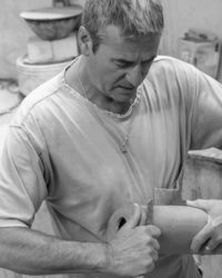 John bedding sculpting a pot