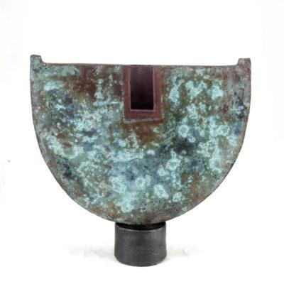 John bedding copper glazed ceramic pot