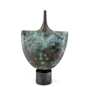 john bedding copper glazed ceramic pot
