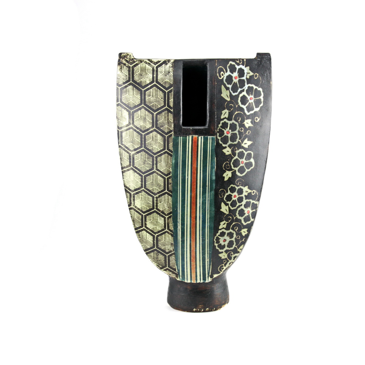 Pot in kimono 5 - 36x22cm  SOLD - P21