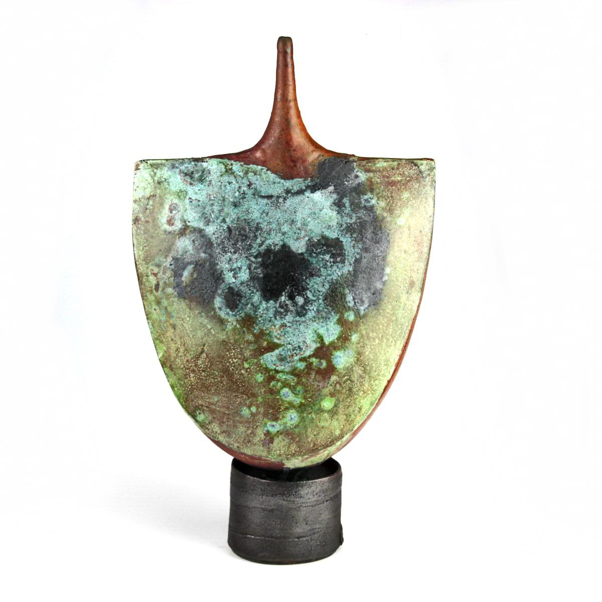 Narrow necked pedestal pot